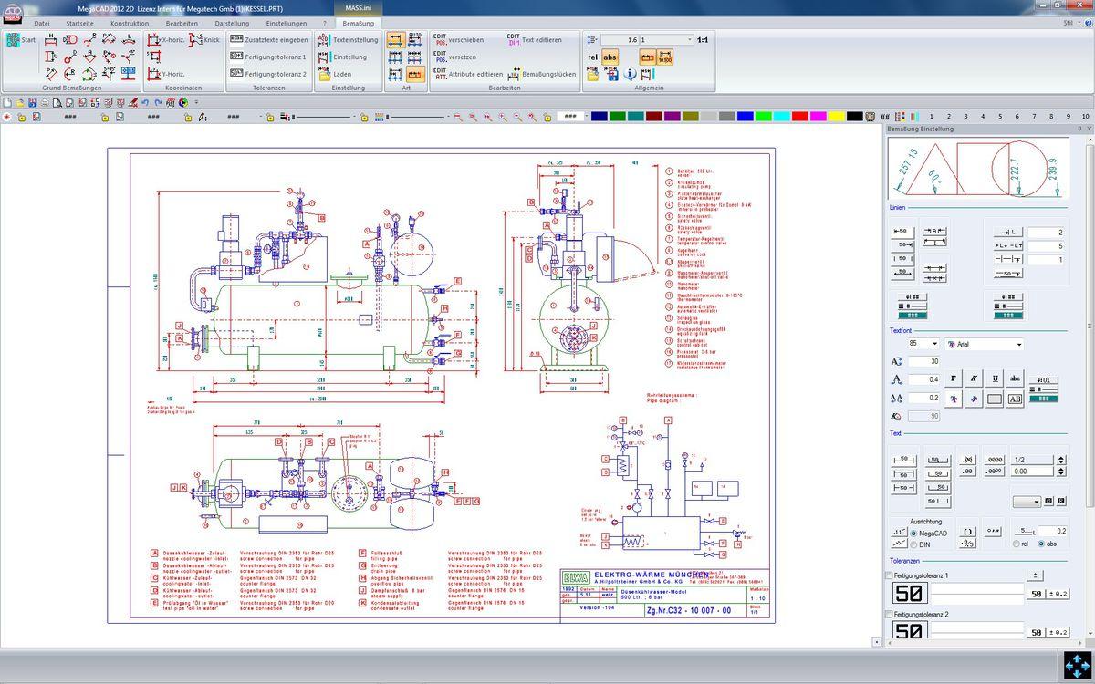 MegaCAD 2D: Full-feature 2D drafting program