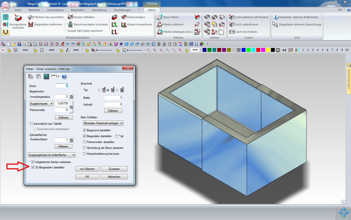 Megacad Unfold Sf Cad For Sheet Metal